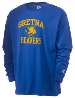 Gretna Elementary School Beavers  Russell Men's Long Sleeve T-Shirt