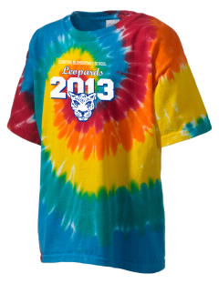 Lomitas Elementary School Leopards Kid's Tie-Dye T-Shirt