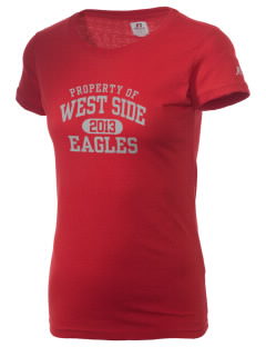 West Side High School Eagles  Russell Women's Campus T-Shirt