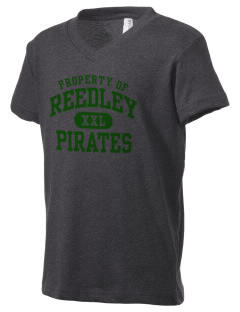 Reedley High School Pirates Kid's V-Neck Jersey T-Shirt