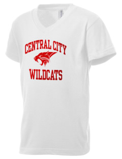 Central City Community High School Wildcats Kid's V-Neck Jersey T-Shirt