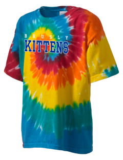 Brusly Elementary School Kittens Kid's Tie-Dye T-Shirt