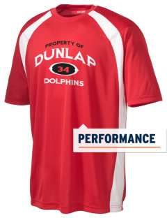 Dunlap Elementary School Dolphins Men's Dry Zone Colorblock T-Shirt