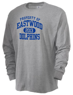 Eastwood Elementary School Dolphins  Russell Men's Long Sleeve T-Shirt
