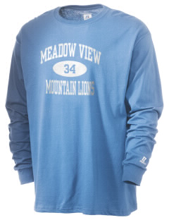 Meadow View School Mountain Lions  Russell Men's Long Sleeve T-Shirt