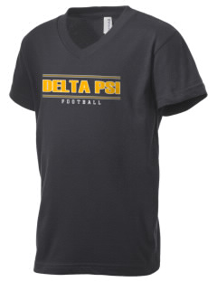 Delta Psi Kid's V-Neck Jersey T-Shirt