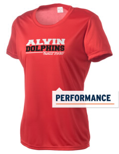 Alvin Community College Dolphins Women's Competitor Performance T-Shirt