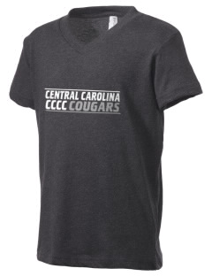 Central Carolina Community College  Cougars Kid's V-Neck Jersey T-Shirt