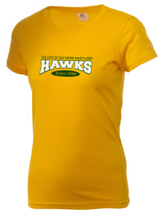 College of Southern Maryland Hawks  Russell Women's Campus T-Shirt
