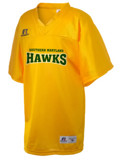 College of Southern Maryland Hawks Russell Kid's Replica Football Jersey