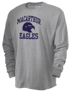 Douglas MacArthur Elementary School Eagles  Russell Men's Long Sleeve T-Shirt