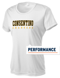 Consentino Middle School Chargers Women's Competitor Performance T-Shirt