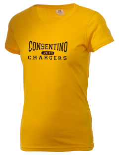 Consentino Middle School Chargers  Russell Women's Campus T-Shirt