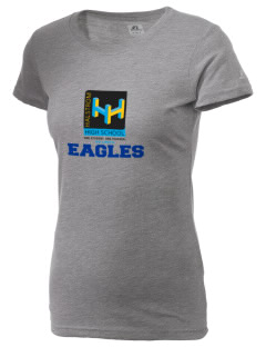 Agua Dulce Elementary School Eagles  Russell Women's Campus T-Shirt