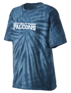 Explorer West Middle School Falcons Kid's Tie-Dye T-Shirt