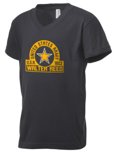 Walter Reed Army Medical Center Kid's V-Neck Jersey T-Shirt