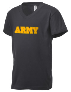 Natick Soldier Systems Command Kid's V-Neck Jersey T-Shirt