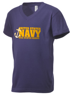 Winter Harbor Naval Security Group Activity Kid's V-Neck Jersey T-Shirt