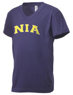 NIA Community Public Charter School Eagles Kid's V-Neck Jersey T-Shirt