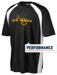 USS San Antonio Men's Dry Zone Colorblock T-Shirt
