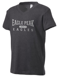 Eagle Peak Middle School Eagles Kid's V-Neck Jersey T-Shirt