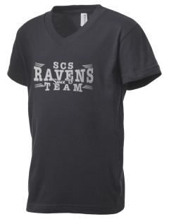 Spectrum Community School Ravens Kid's V-Neck Jersey T-Shirt