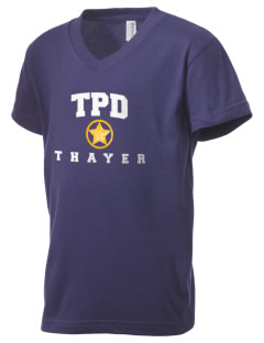 Thayer Police Department Kid's V-Neck Jersey T-Shirt