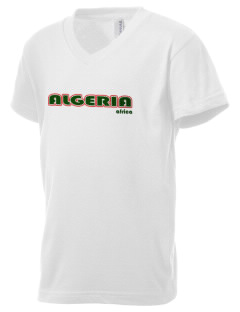 Algeria Kid's V-Neck Jersey T-Shirt