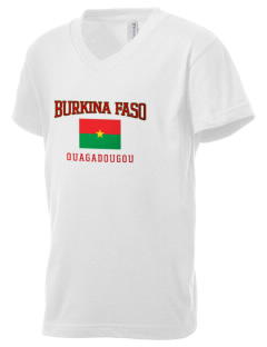 Burkina Faso Kid's V-Neck Jersey T-Shirt