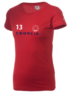 Croatia  Russell Women's Campus T-Shirt