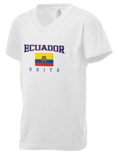 Ecuador Kid's V-Neck Jersey T-Shirt