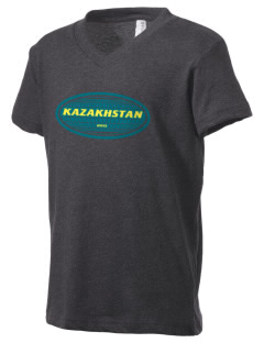 Kazakhstan Kid's V-Neck Jersey T-Shirt