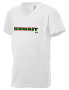 Kuwait Kid's V-Neck Jersey T-Shirt