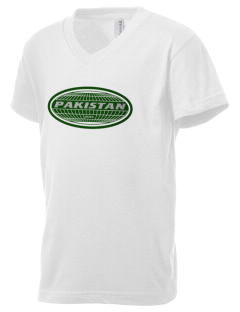 Pakistan Kid's V-Neck Jersey T-Shirt