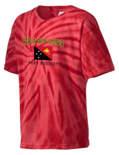 Papua New Guinea Kid's Tie-Dye T-Shirt