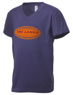 Sri Lanka Kid's V-Neck Jersey T-Shirt