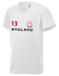 England Kid's V-Neck Jersey T-Shirt