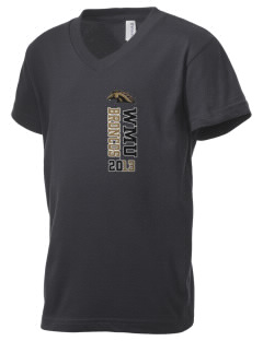 Western Michigan University Broncos Kid's V-Neck Jersey T-Shirt