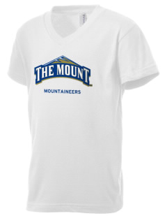 Mount St. Mary's University Mountaineers Kid's V-Neck Jersey T-Shirt