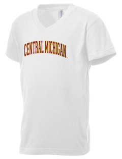 Central Michigan University Chippewas Kid's V-Neck Jersey T-Shirt