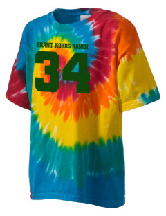 Grant-Kohrs Ranch National Historic Site Kid's Tie-Dye T-Shirt