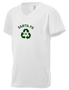 Santa Fe National Historic Trail Kid's V-Neck Jersey T-Shirt