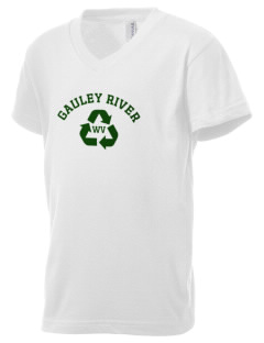 Gauley River National Recreation Area Kid's V-Neck Jersey T-Shirt