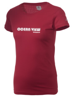 Ocean View  Russell Women's Campus T-Shirt