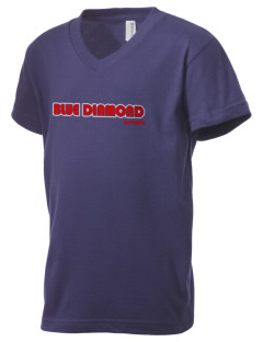 Blue Diamond Kid's V-Neck Jersey T-Shirt