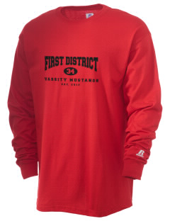 First District Elementary School Mustangs  Russell Men's Long Sleeve T-Shirt