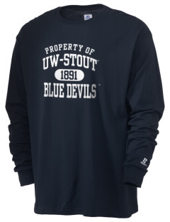 University of Wisconsin-Stout Blue Devils  Russell Men's Long Sleeve T-Shirt