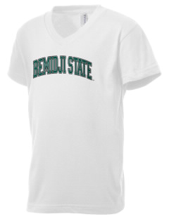 Bemidji State University Beavers Kid's V-Neck Jersey T-Shirt