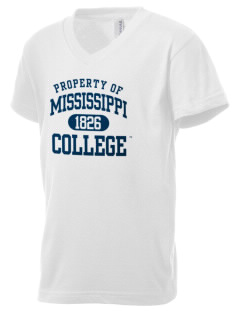 Mississippi College Choctaws Kid's V-Neck Jersey T-Shirt