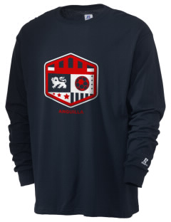 Anguilla Soccer  Russell Men's Long Sleeve T-Shirt